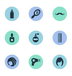 Set of simple hairdresser vector