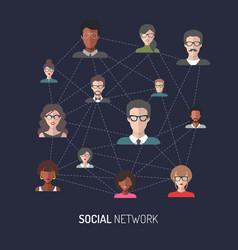 Social network of global vector
