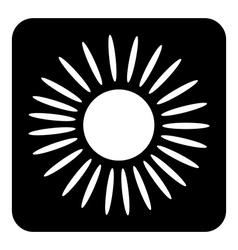 Sun button vector image