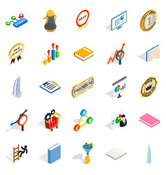 Superior icons set isometric style vector
