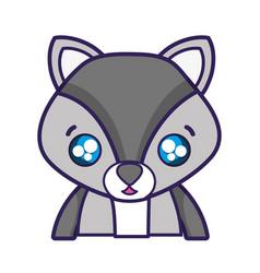 Surprised fox adorable wild animal vector