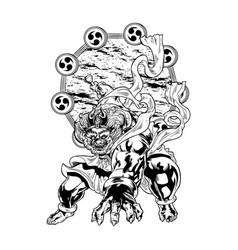 thunder god raijin vector image vector image