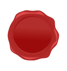Wax seal red isolated on white background vector