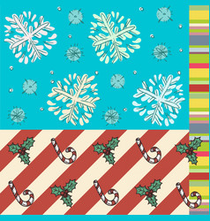 Winter time background and wrapper textures vector