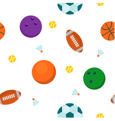sport ball seamless pattern vector image