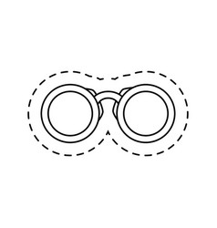 Binoculars view isolated icon vector