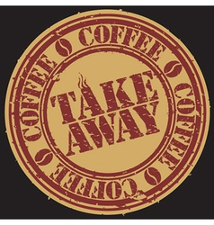 Take away coffee stamp vector