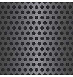 Abstract dotted seamless steel background vector