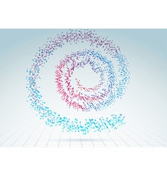 Colorful abstract bright particle spiral vector