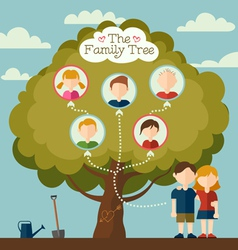 The family tree vector