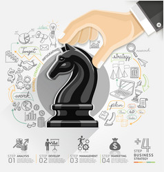 Business strategy infographics option vector