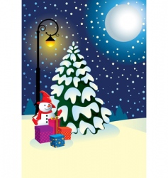 Christmas gifts under the tree vector