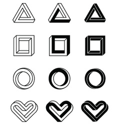Imposible shapes vector