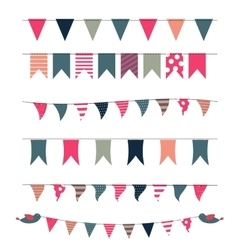 Party flags set vector