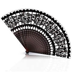 Black and red fan vector