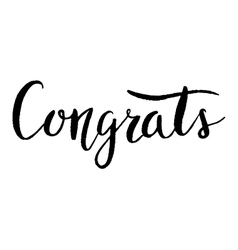 Congrats hand lettering modern calligraphy vector