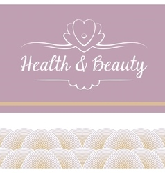 Logo depicting shells and pearls health vector