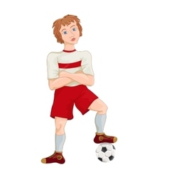 Young soccer player cartoon character vector