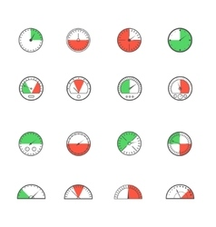 Sensor and detector icon set vector