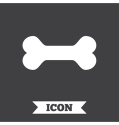 Dog bone sign icon pets food symbol vector
