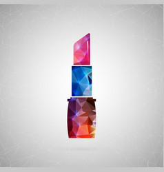 abstract creative concept icon of lipstick vector image vector image