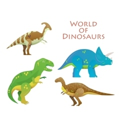 Cartoon dinosaur or reptile animal dino vector