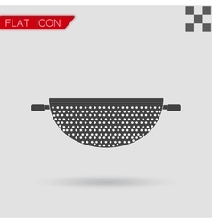 Colander Icon Flat Style with red vector image vector image