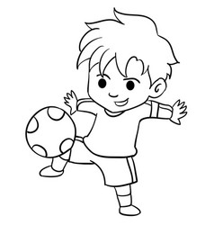 Collection of kid playing football vector