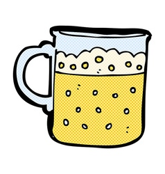 comic cartoon mug of beer vector image vector image