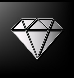 Diamond sign gray 3d printed vector