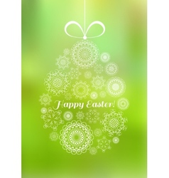 Easter greeting card with decorative egg vector image vector image