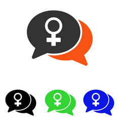Female chat flat icon vector