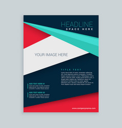 Geometric poly shape business brochure flyer vector