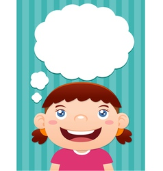 Girl thinking vector image vector image