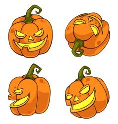 Halloweenpumpkincartoon vector