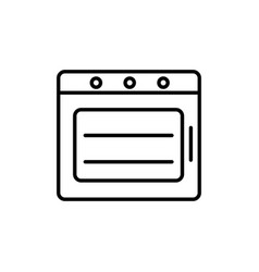 kitchen oven icon vector image vector image