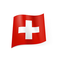 National flag of switzerland white cross in vector