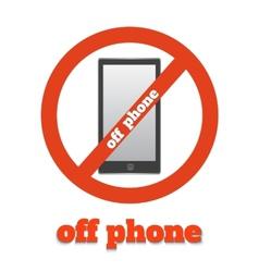 No telephone vector image