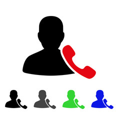 Phone support flat icon vector