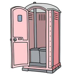 Pink mobile toilet vector
