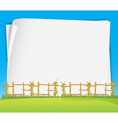 Poster and field vector image vector image