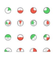 Sensor and detector icon set vector image vector image