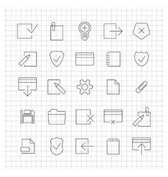 Set of linear universal icons vector image