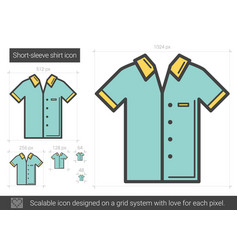Short-sleeve shirt line icon vector