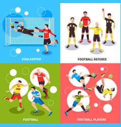 Soccer players design concept vector