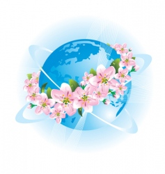 spring world vector image