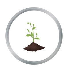Sprout icon in outline style isolated on white vector image