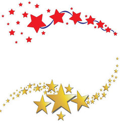 Star icon background vector image vector image