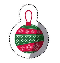Sticker cartoon garland christmas decoratives vector
