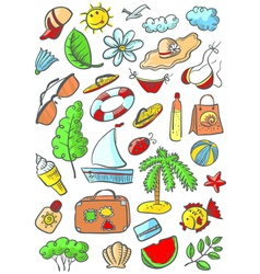 summer object vector image vector image